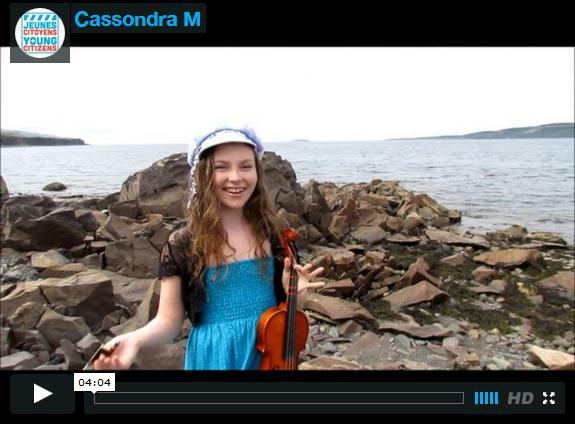 Cassondra M  from Hopeall Avalon Regional Heritage Fair  Visual & Performing Art NL