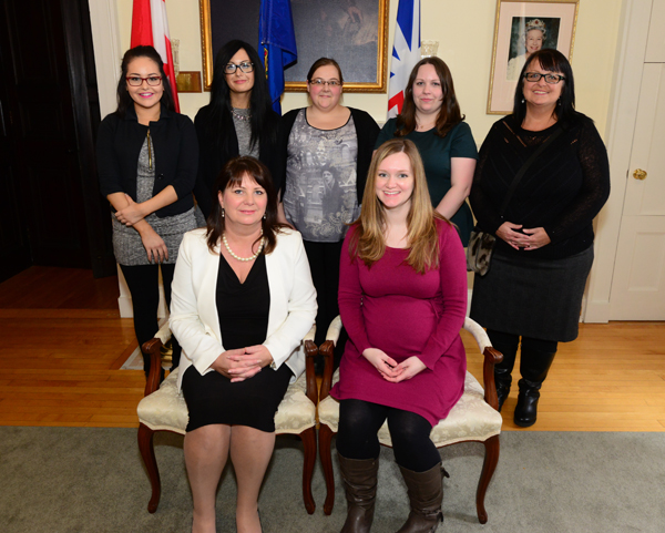 HSA staff members attending the post-Manning Awards reception at Government House.