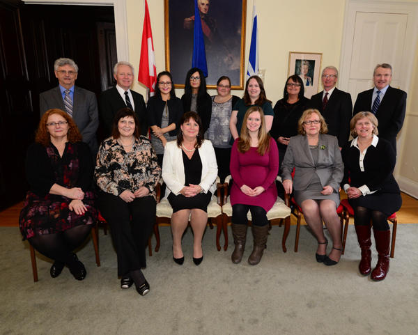 HSA board members and staff attend the post-ceremony reception at Government House.