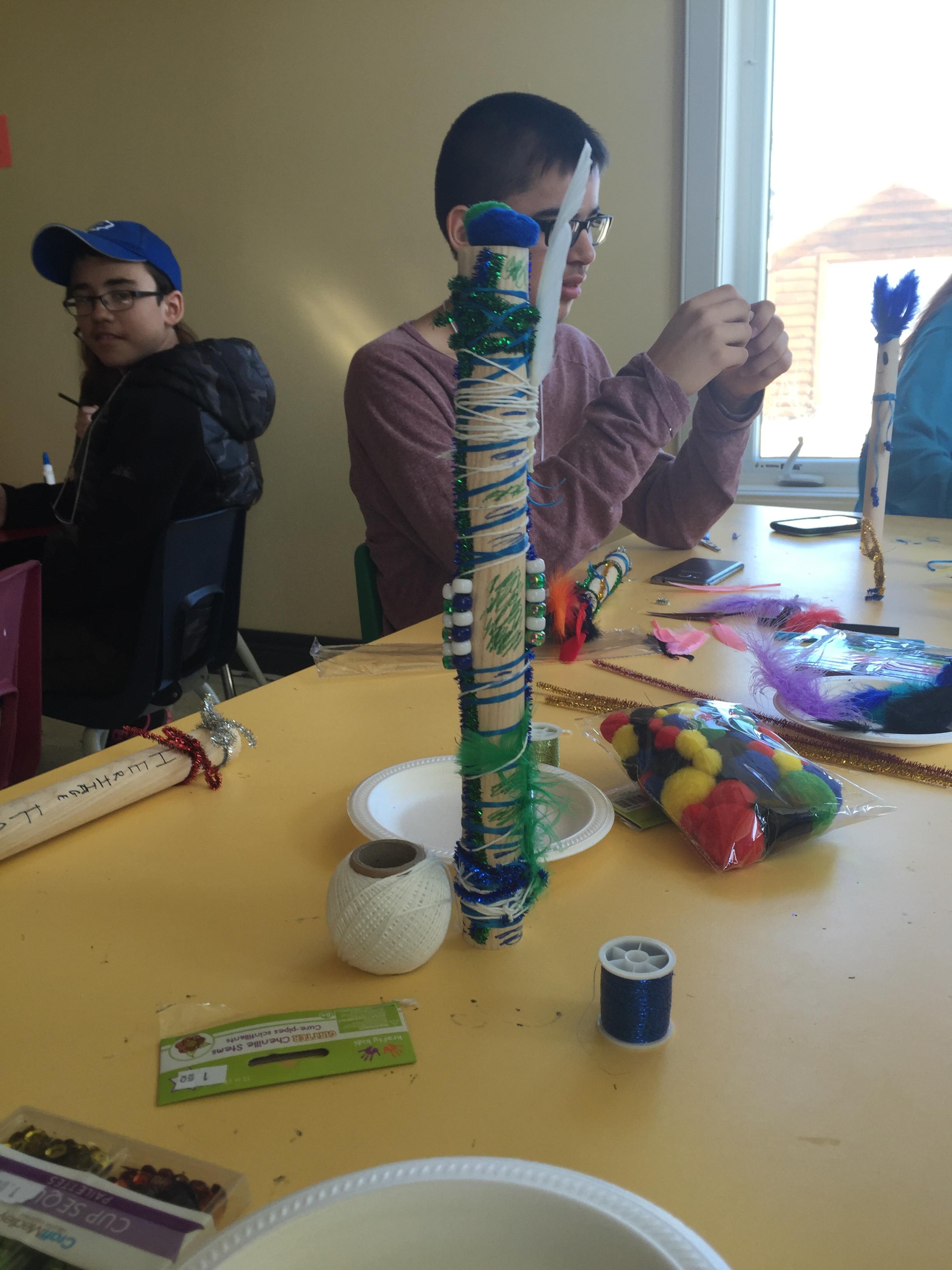 Making talking sticks