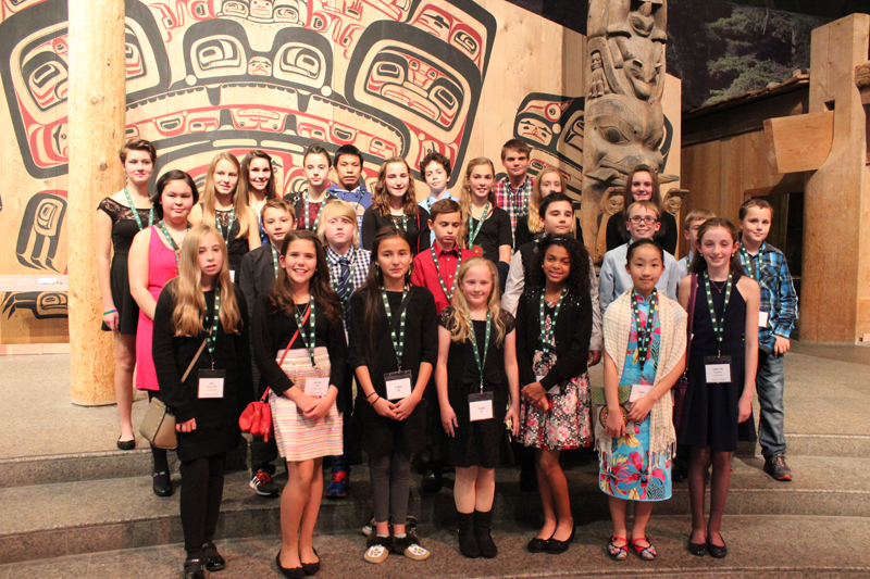 2015 Young Citizens at the History Makers Dinner held at the Canadian Museum of History.