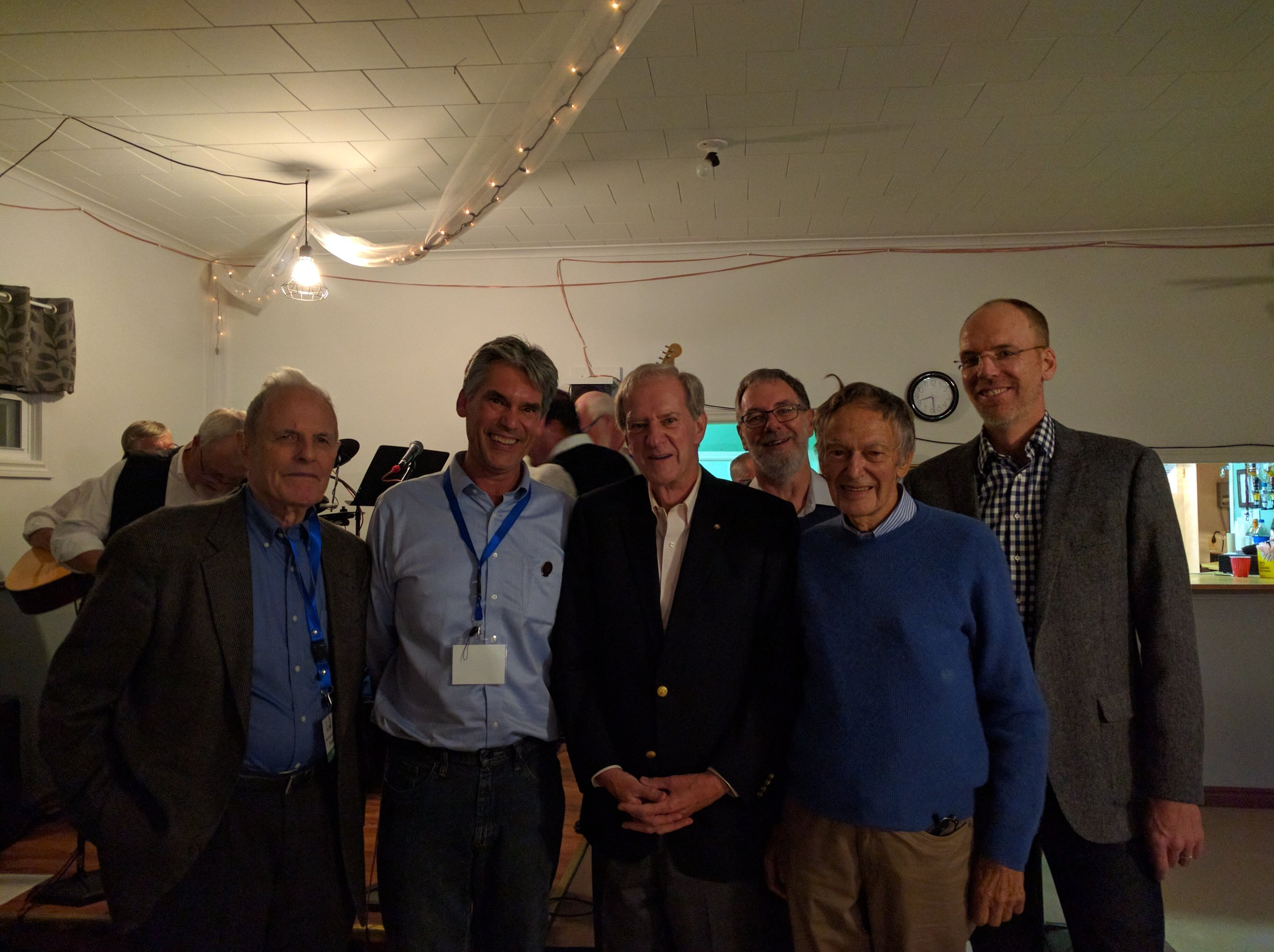 Conference speakers (L-R): Bernard Finn, Cyrus Field IV, Ted Rowe, Charles Stirling, Wallace Rendell, David Anderson, Shane O'Dea (not pictured).