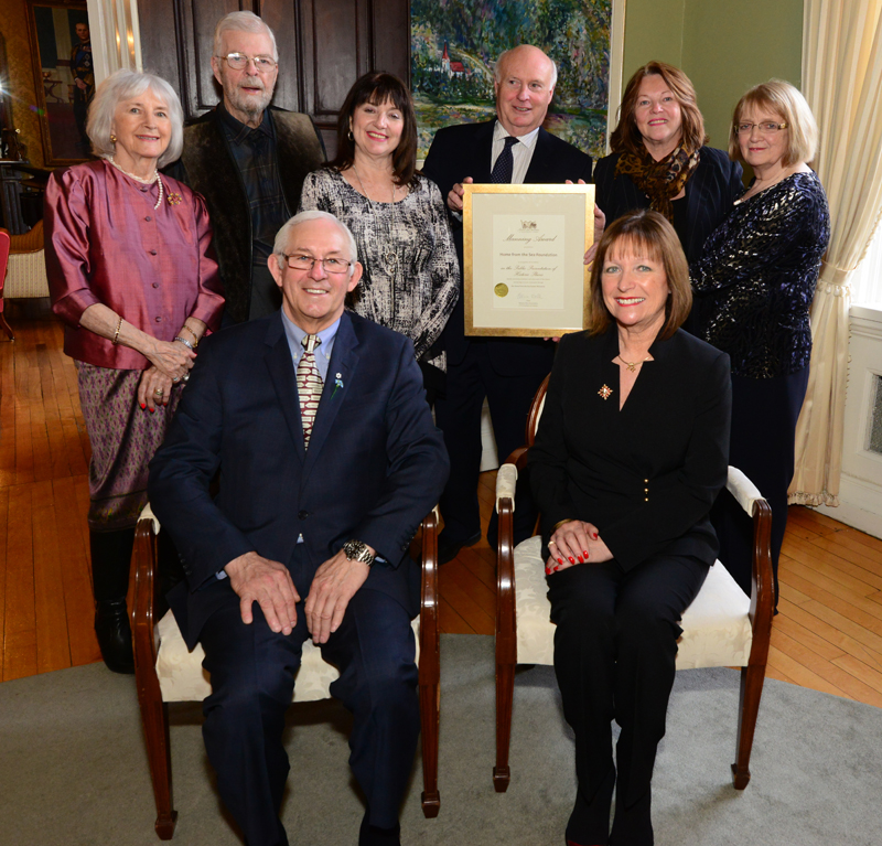 Home from the Sea Foundation with their 2016 Manning Award for the  John C. Crosbie Sealers Interpretation Centre .