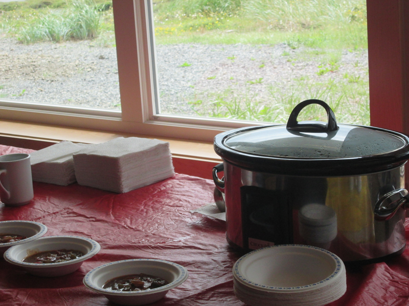 Visitors to the National Historic Site had an opportunity to sample Moose Axoa d'Espelette, a Basque inspired dish.