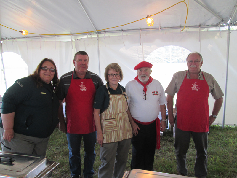 Parks Canada staff and volunteers with chef Gerard Couret