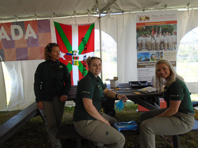 Parks Canada staff providing tattoos and entertainment for children