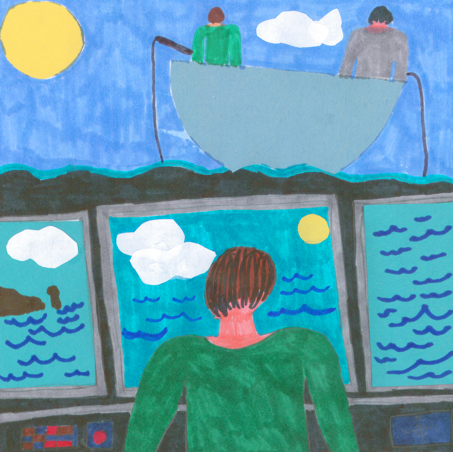 Vista Winner -  Senior Division    Into the Big Sea  by  Jill White  Grade 12, Bishop White School