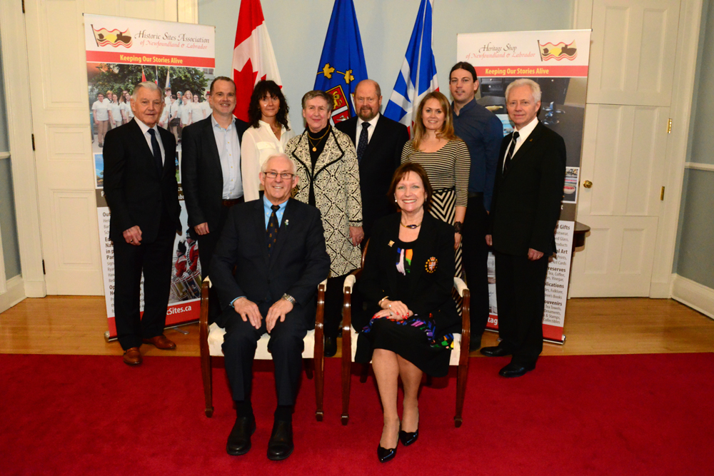 Les Noseworthy and his guests at the Government House reception with Their Honours