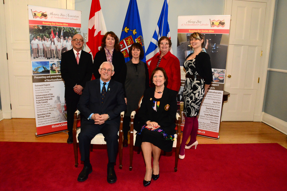 Linda White and guests at the Government House reception with Their Honours
