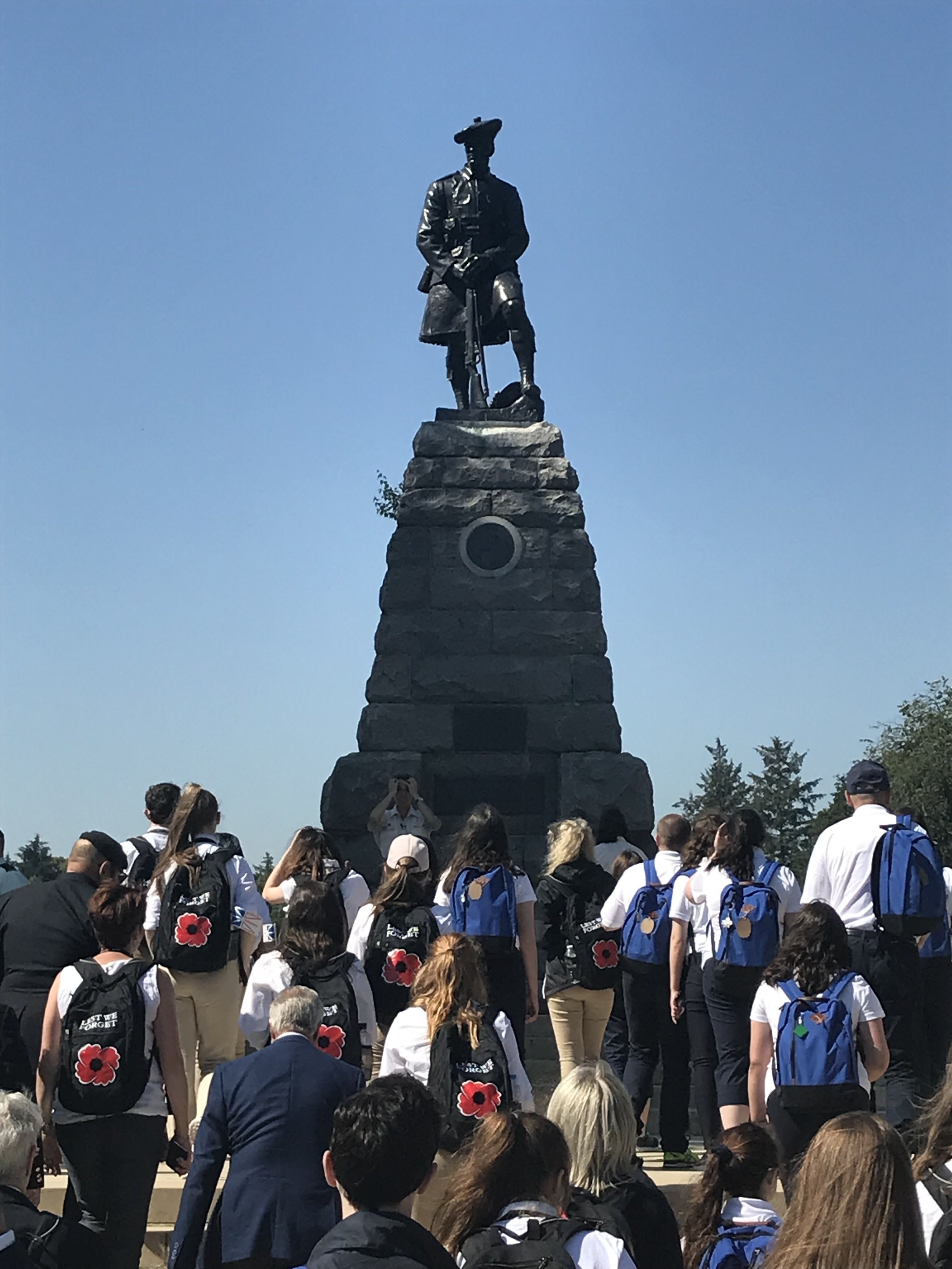 A montument in Beaumont-Hamel honuoring the 51st Highland Divison