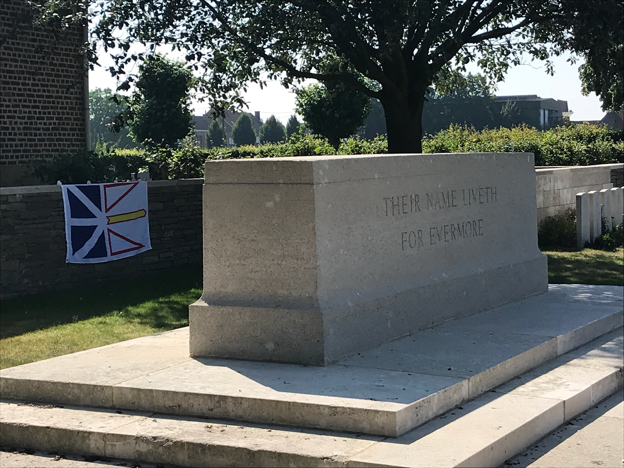 A monument at a British cemetery.