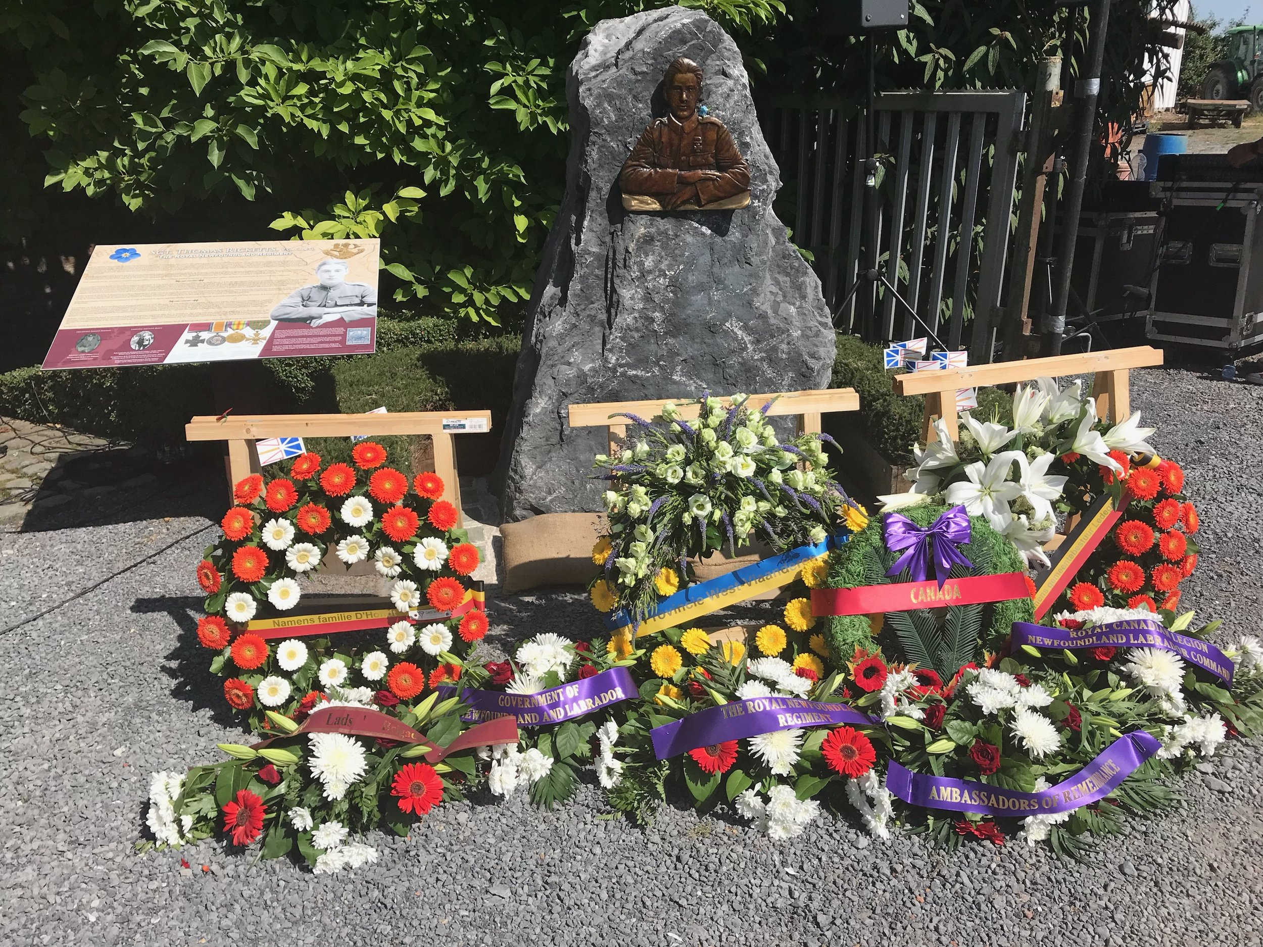 100 years after Tommy Ricketts fought at the Battle of Ledeghem a memorial dedicaded to him opened June 30th 2018.