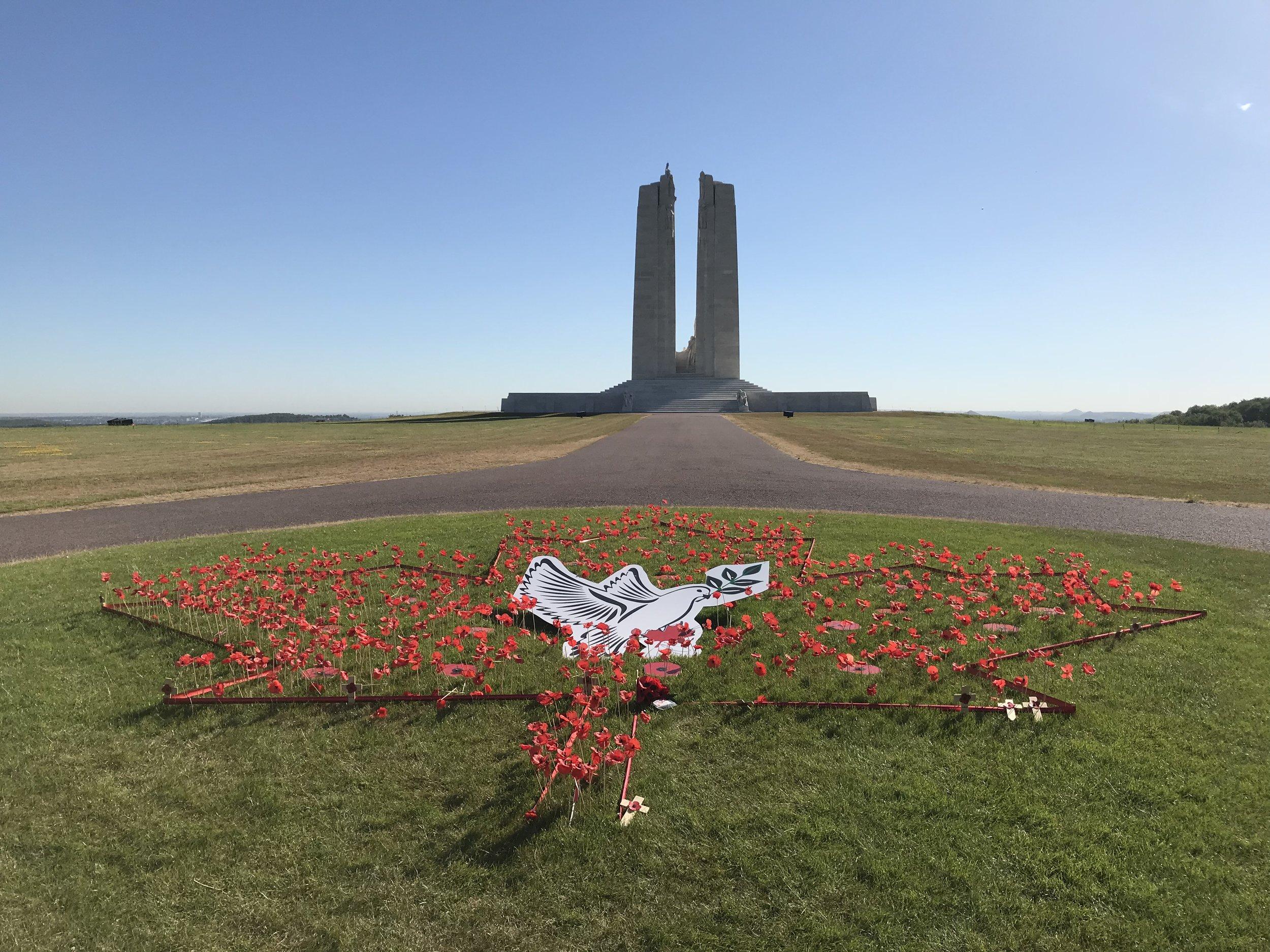 The Vimy ridge memorial in France