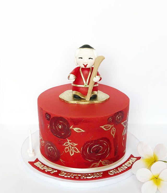 The cutest little cake for grandma 👵 #happybirthdaygrandma #poshsweetco