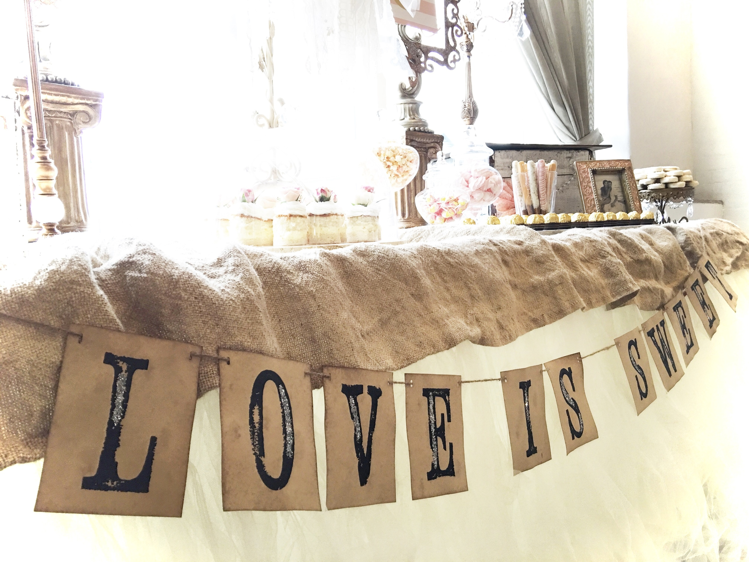 'LOVE IS SWEET' BANNER