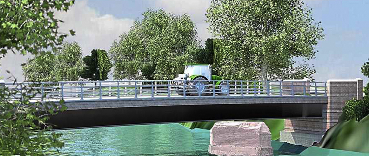 Original elements of the old bridge proposed within the replacement. Credit: @WorcsTravel