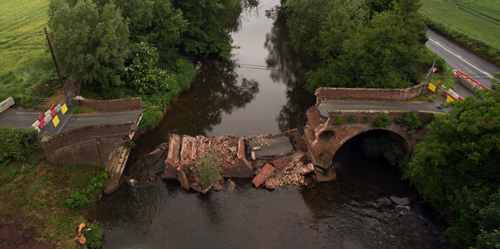 UAV Photogrammetry Survey at the Eastham Bridge