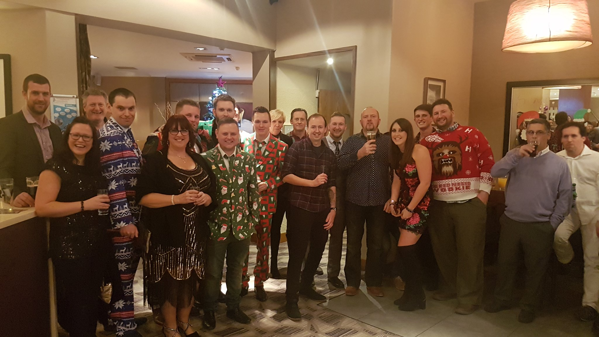 The SUMO team dressed up for our annual Christmas function