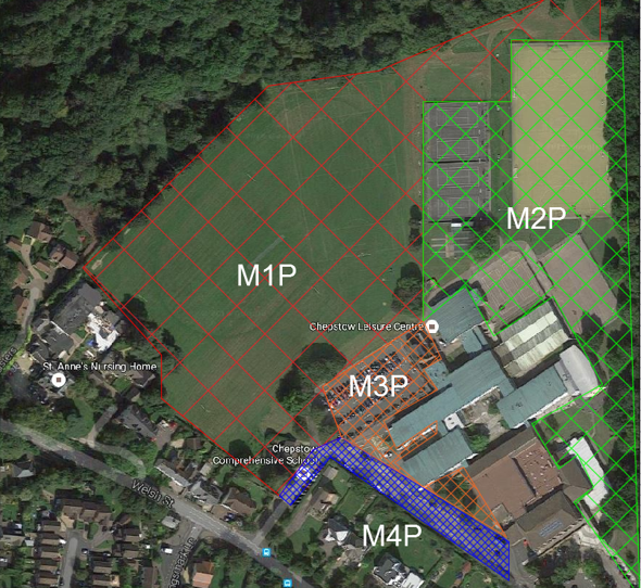 Example of varying Levels of PAS 128 being applied to a site area. Notice how the most intensive PAS 128 levels have been concentrated in areas where typically lots of utilities are found; such as around the buildings. A less intensive PAS 128 quality level has been applied to the field areas. In doing this, you can still obtain sufficient survey data at a fraction of the cost.