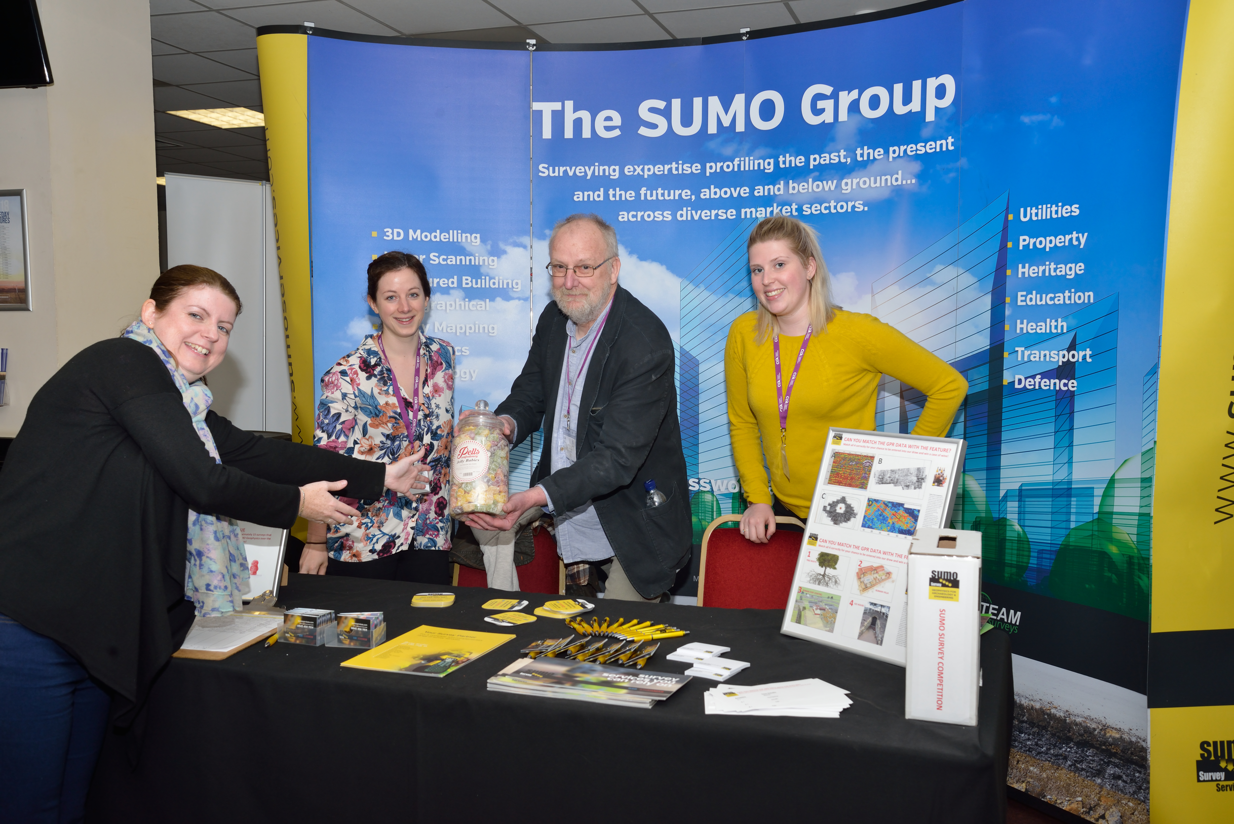 SUMO presents winner of Jelly Baby competition with prize