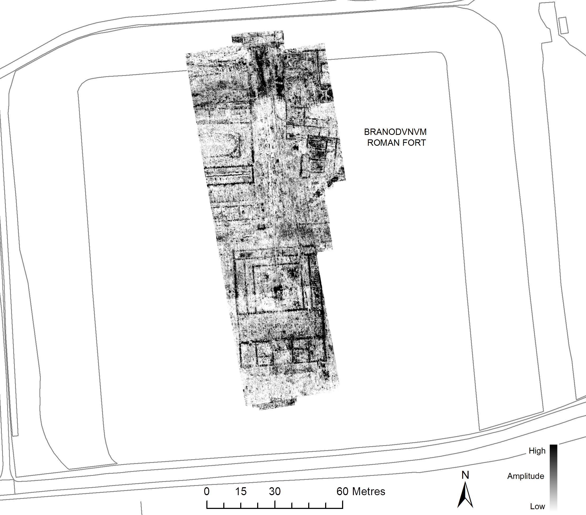 Ground Penetrating Radar Data from Branodunum - collected by SUMO Geophysics