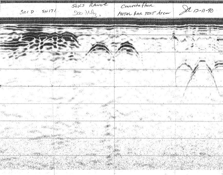 Paper trace data from the SIR 3 Radar system from 1990