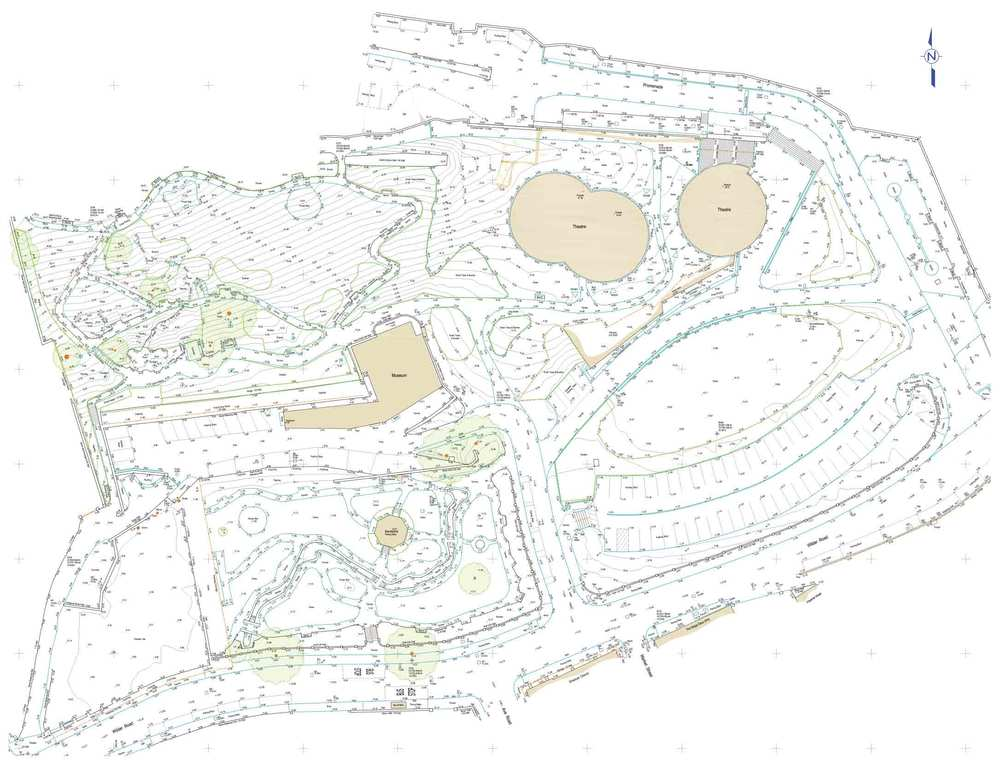 Example of a topographic survey drawing completed by SUMO