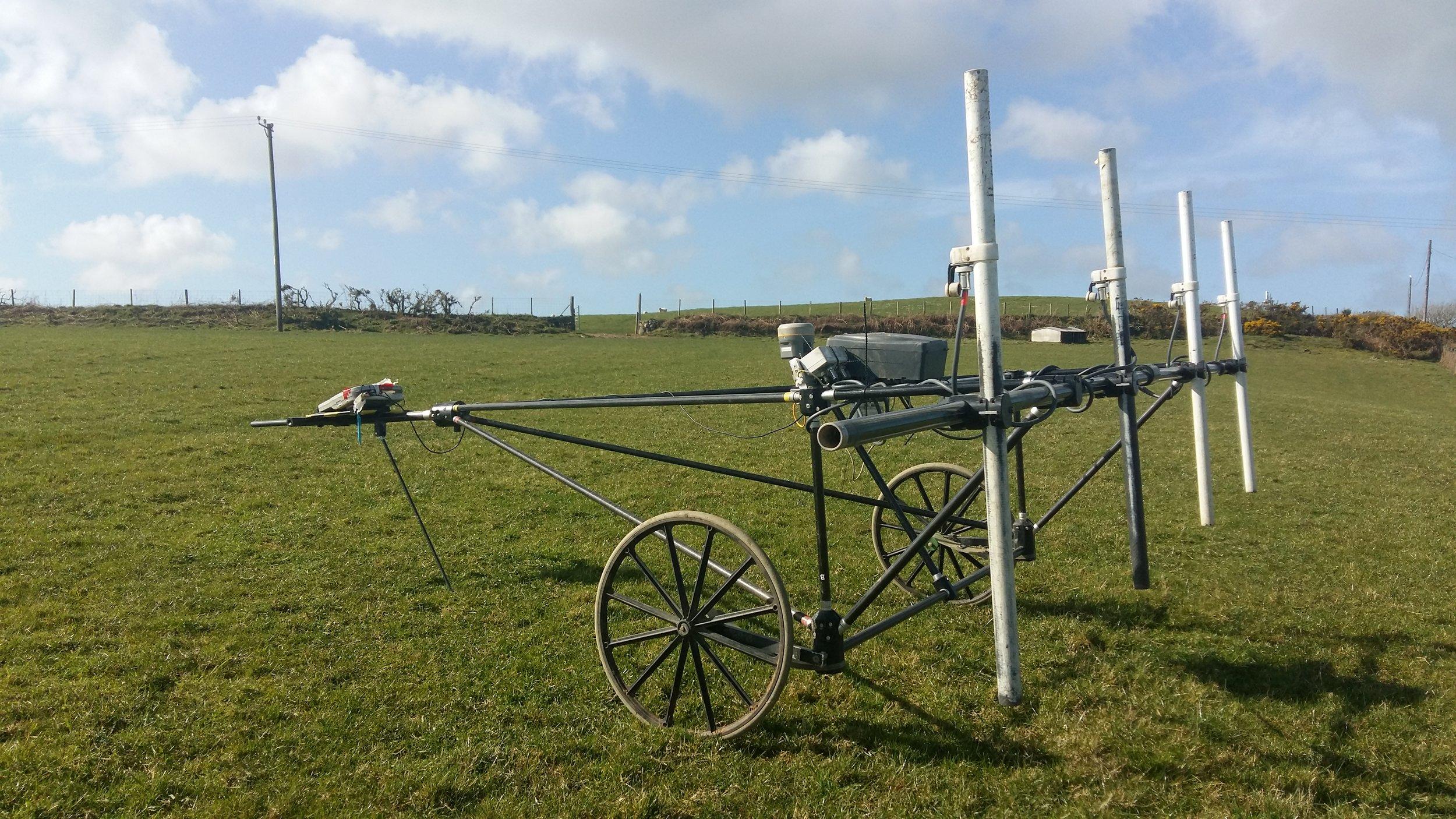 Magnetic survey equipment.
