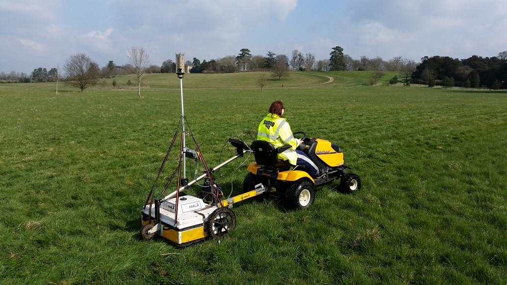 GPR equipment being towed.