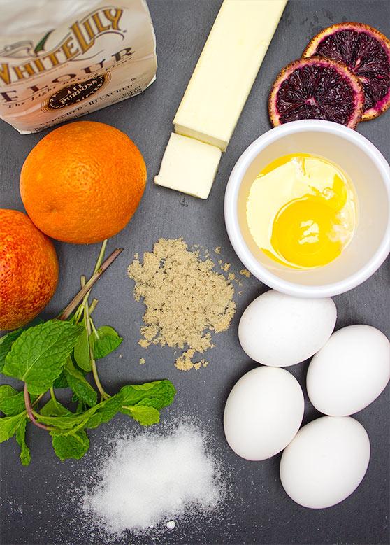 FreshIngredients for Blood Orange + Brown Sugar Bars   flavortheory.com