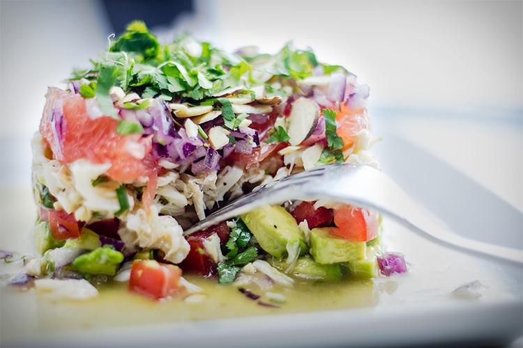 Layered Crab Salad | flavortheory.com