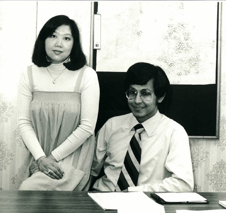 Co-Founders Lilia & Bill at our head office in London back in 1981
