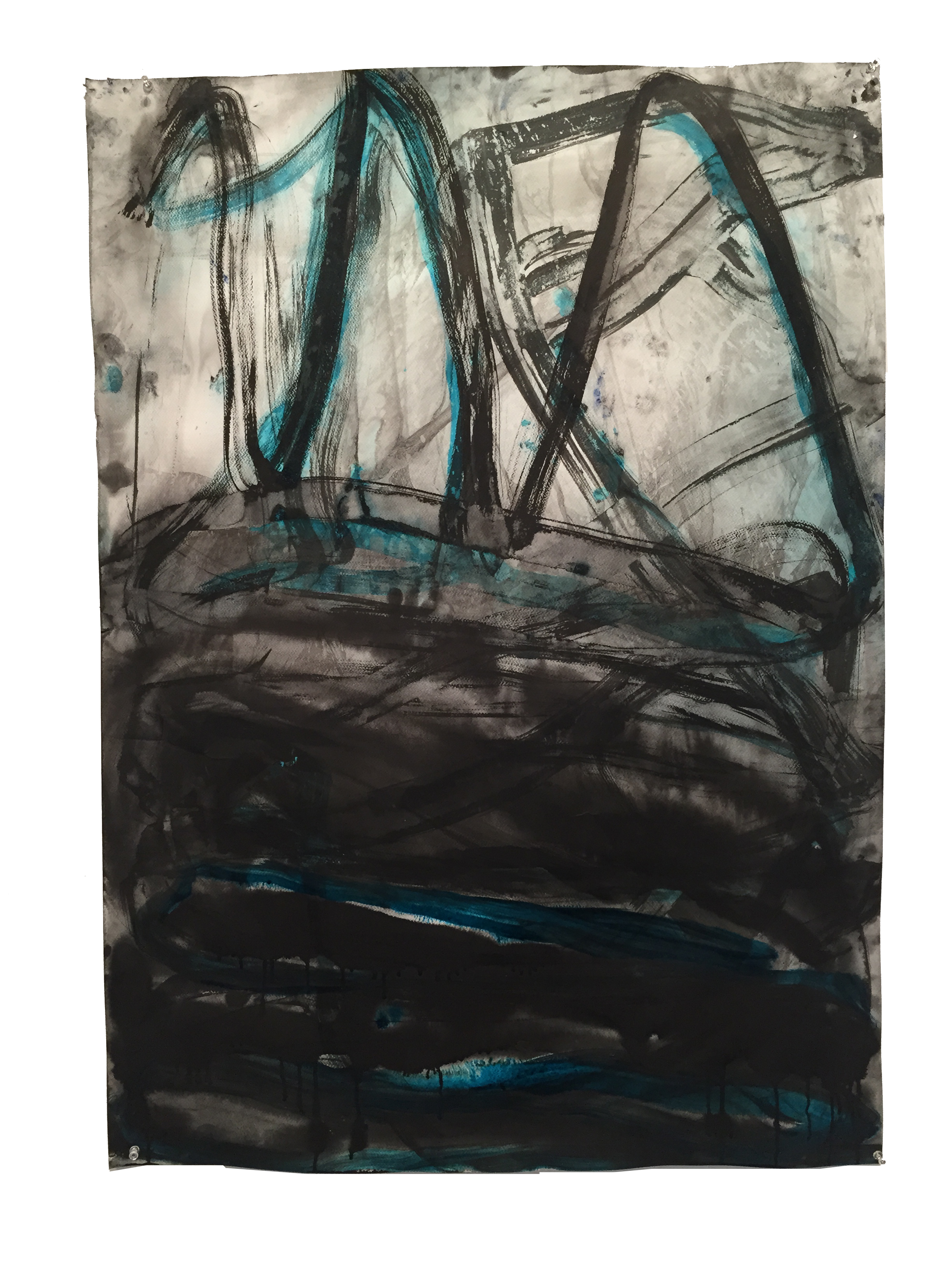 "41"" x 29 1/2"", ink & watercolor on paper, 2015 - $1,200"