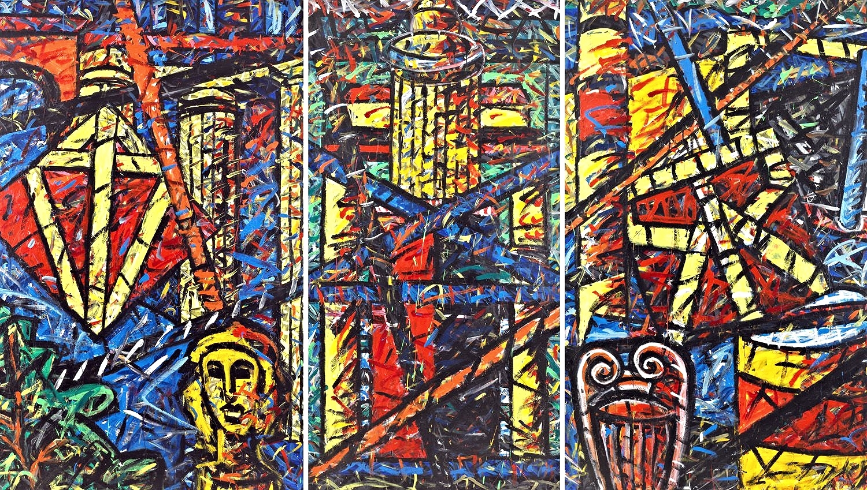 Triptychon 2 (Die Werkstatt des Bildhauers 59), 1996