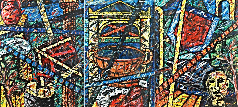 Triptychon 1 (Die Werkstatt des Bildhauers 58), 1996