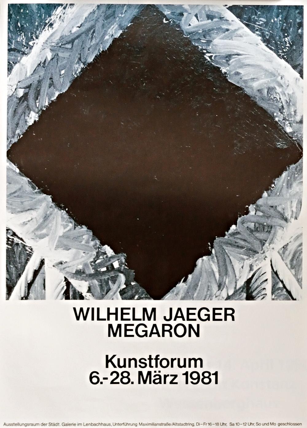 Plakat der Ausstellung im Lenbachhaus, 1981