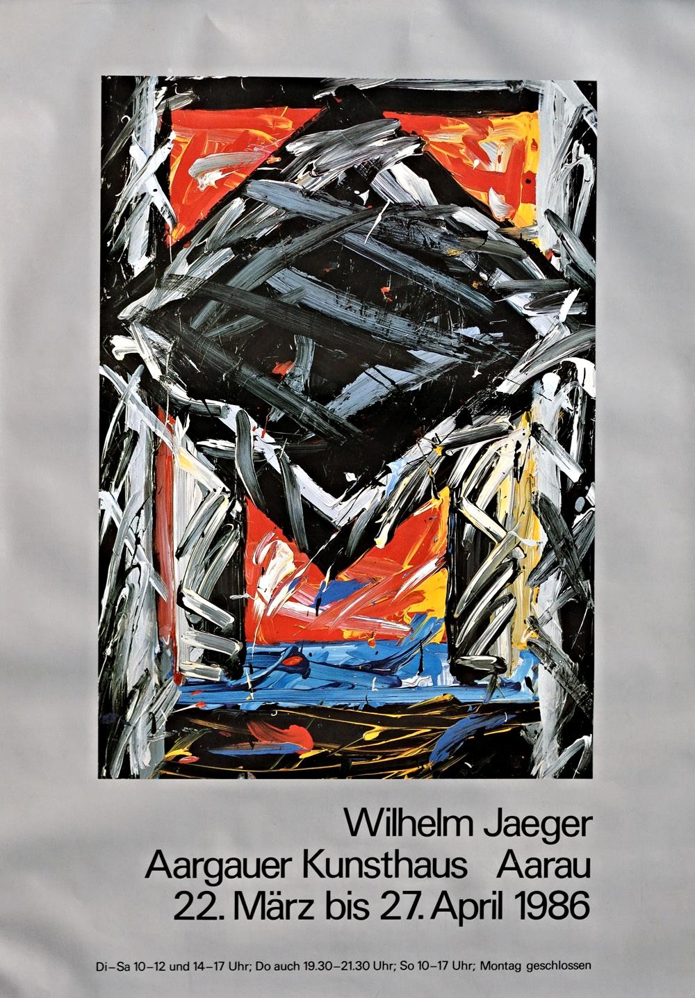 Plakat der Ausstellung im Kunsthaus Aarau, 1986