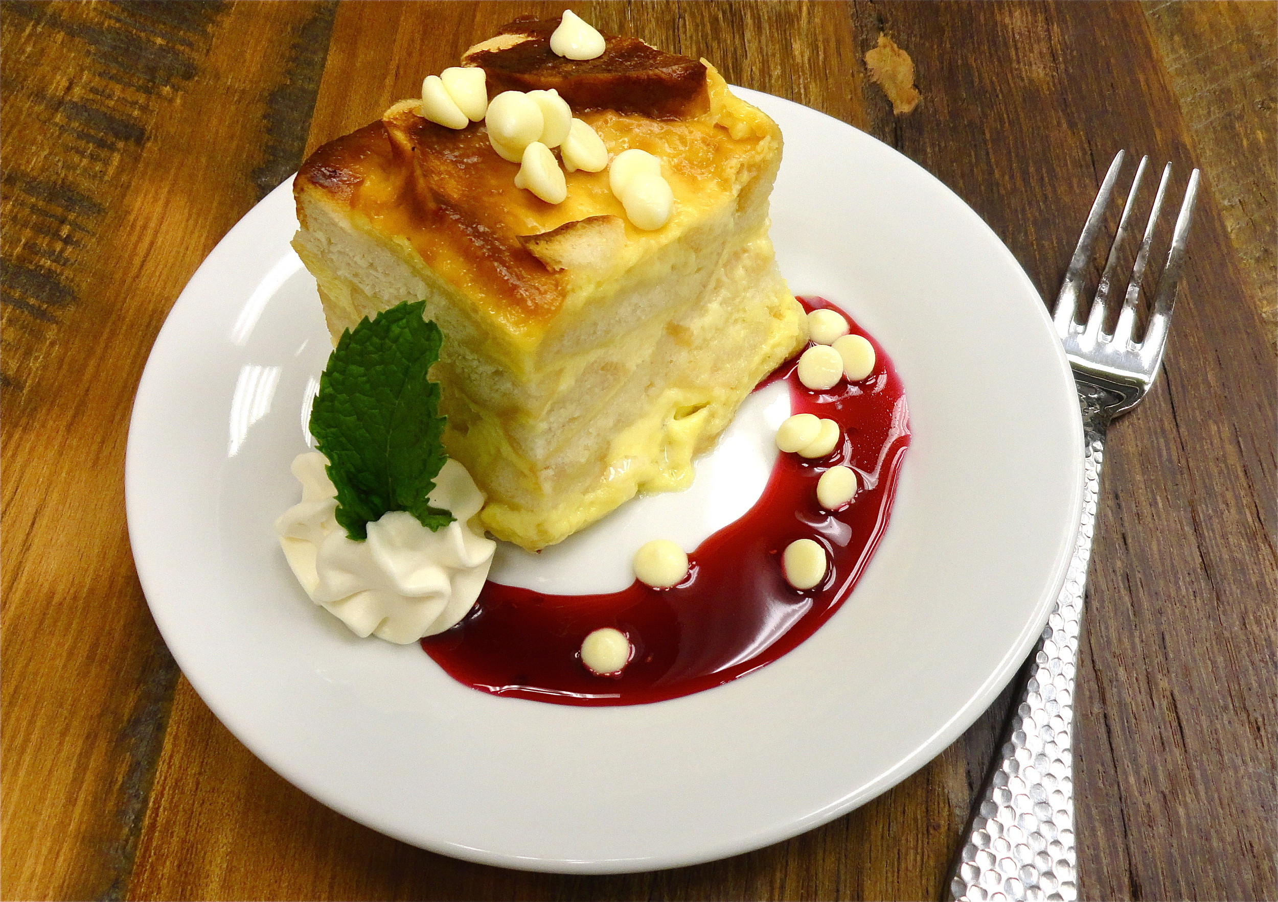 White Chocolate Chunk Bread Pudding