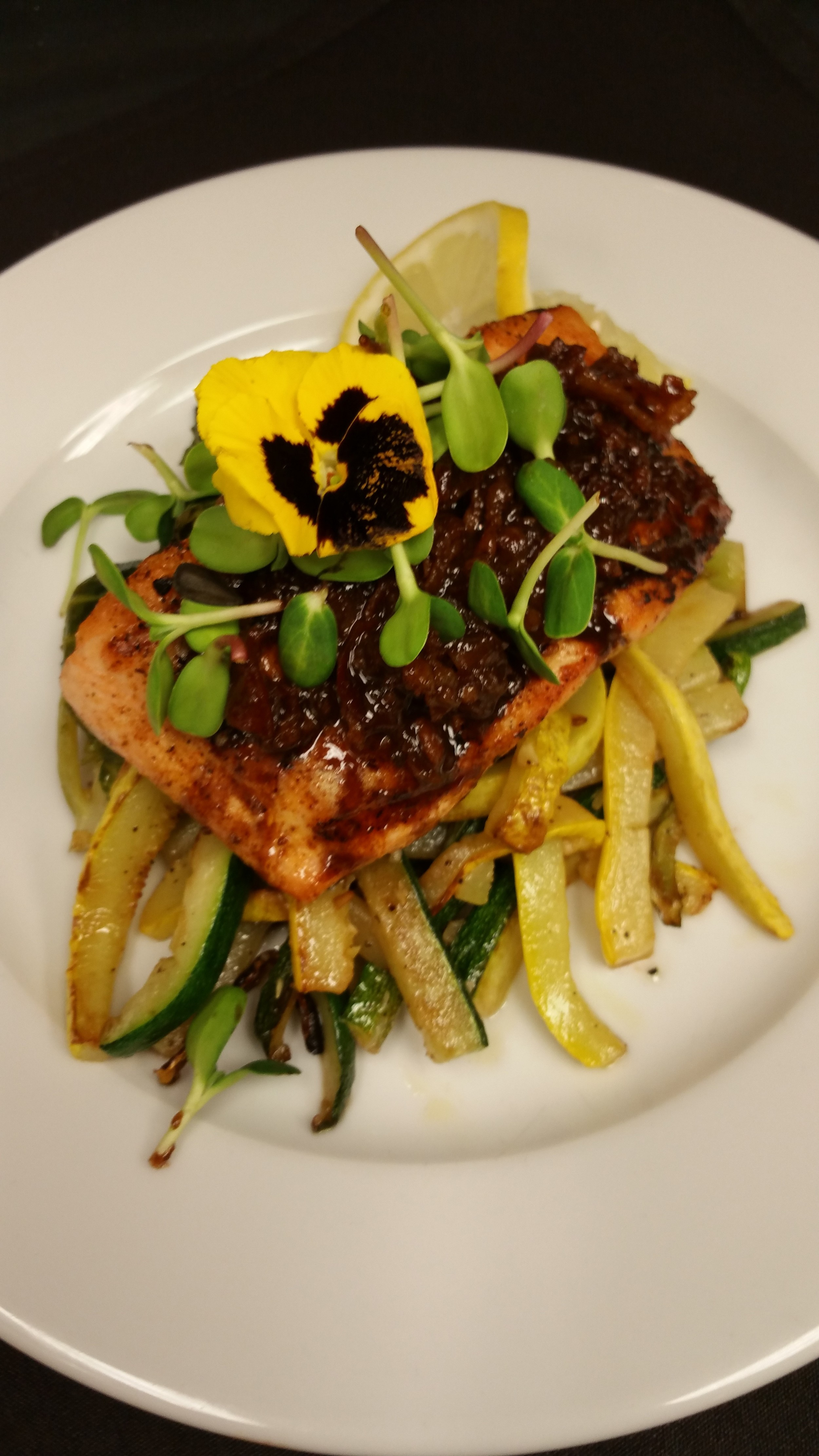 Salmon with Bacon Jam