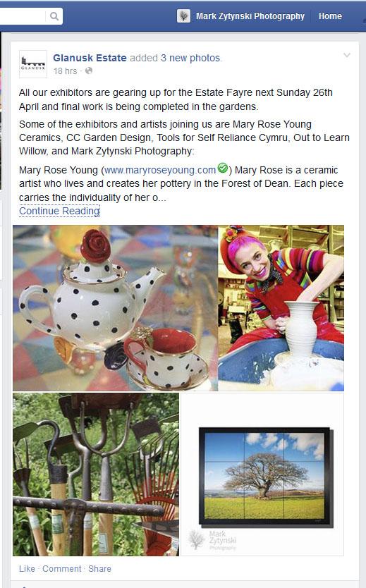 Arts and Crafts exhibition glanusk estate