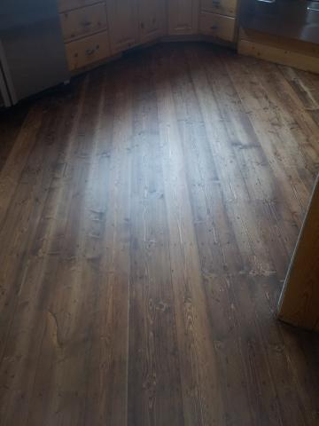 Rustic Pine Floor Restoration - After