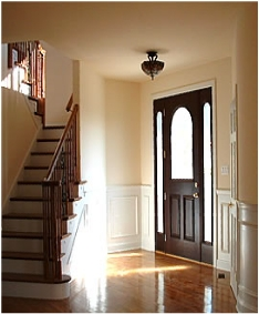 Hardwood entry way