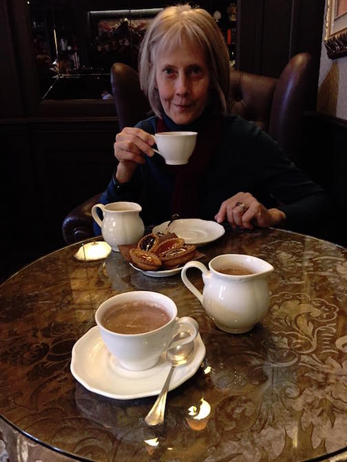 Hot chocolate at Hotel Moresco
