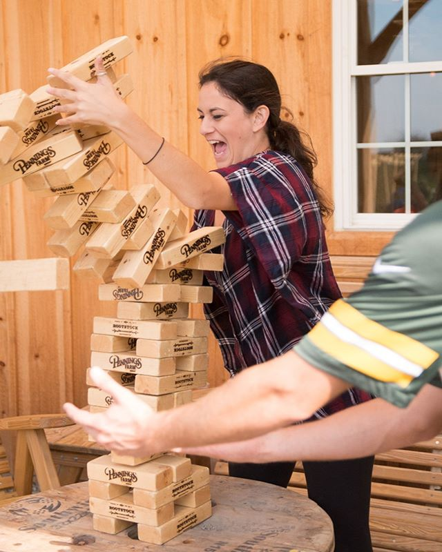 Even if it does rain today...we'll be serving cider and fun!  #cidercountry #hudsonvalleylife #giantjenga #shuffleboard #gameday #farmforlife #penningscidery #pickcider #hudsonvalleycider #cidergram #warwickny #countryroadtrip
