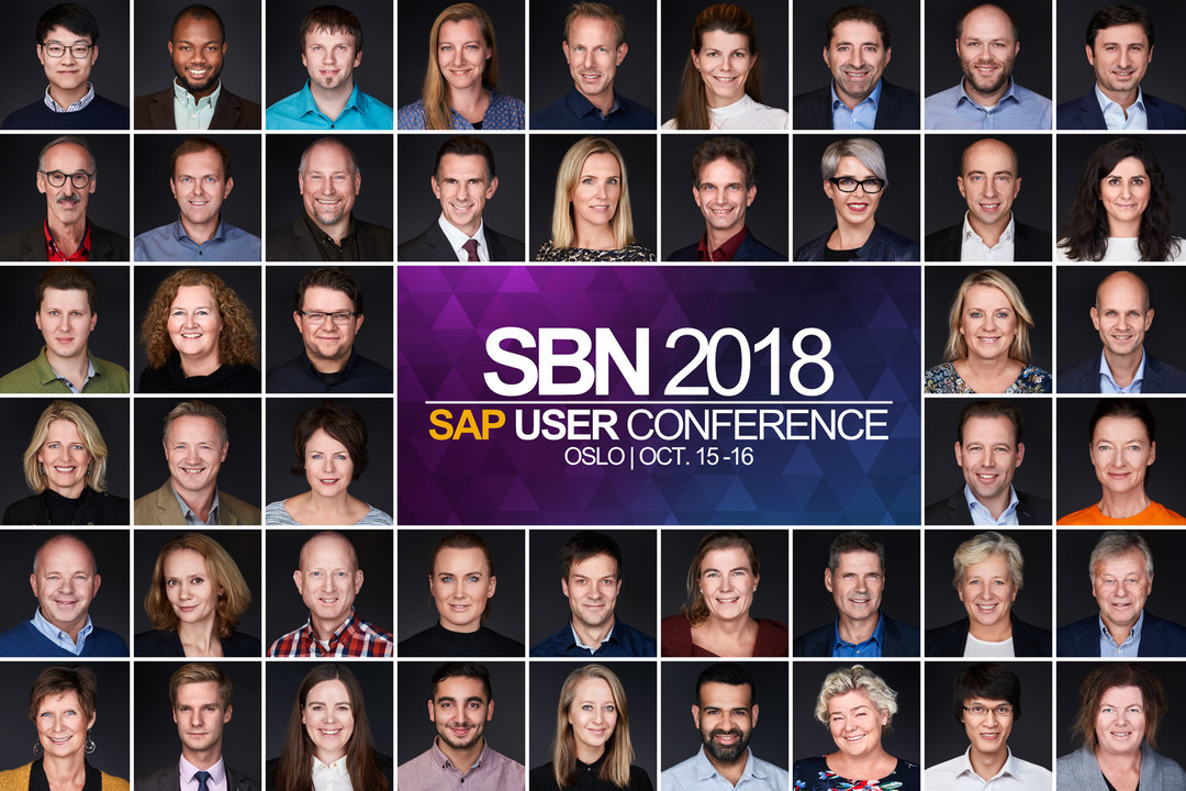 Deltagerne på SBN 2018 – SAP-konferansen – var svært fornøyde med sine nye headshots.