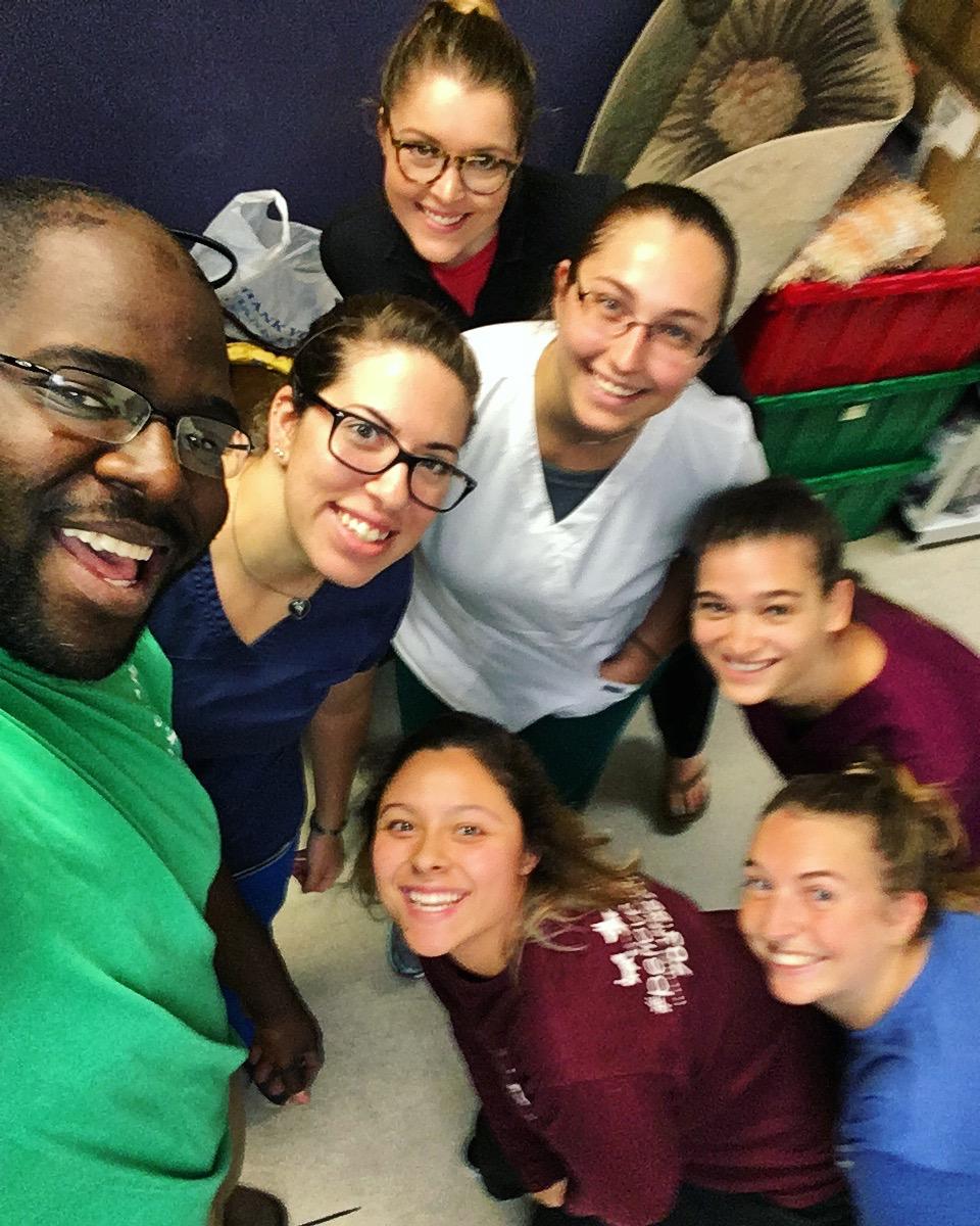Clarendon Animal Care Veterinary Clinic Arlington Virginia staff group selfie
