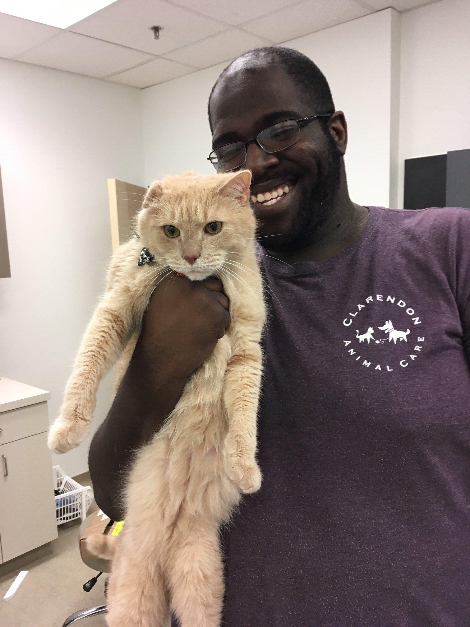 Clarendon Animal Care Veterinary Clinic Arlington Virginia Mike with Tommy