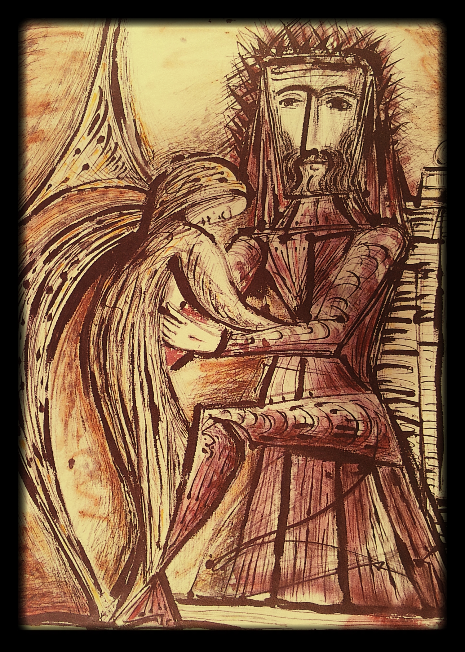 """""""Angel Paying Homage to Christ"""" by  Cecil Collins"""