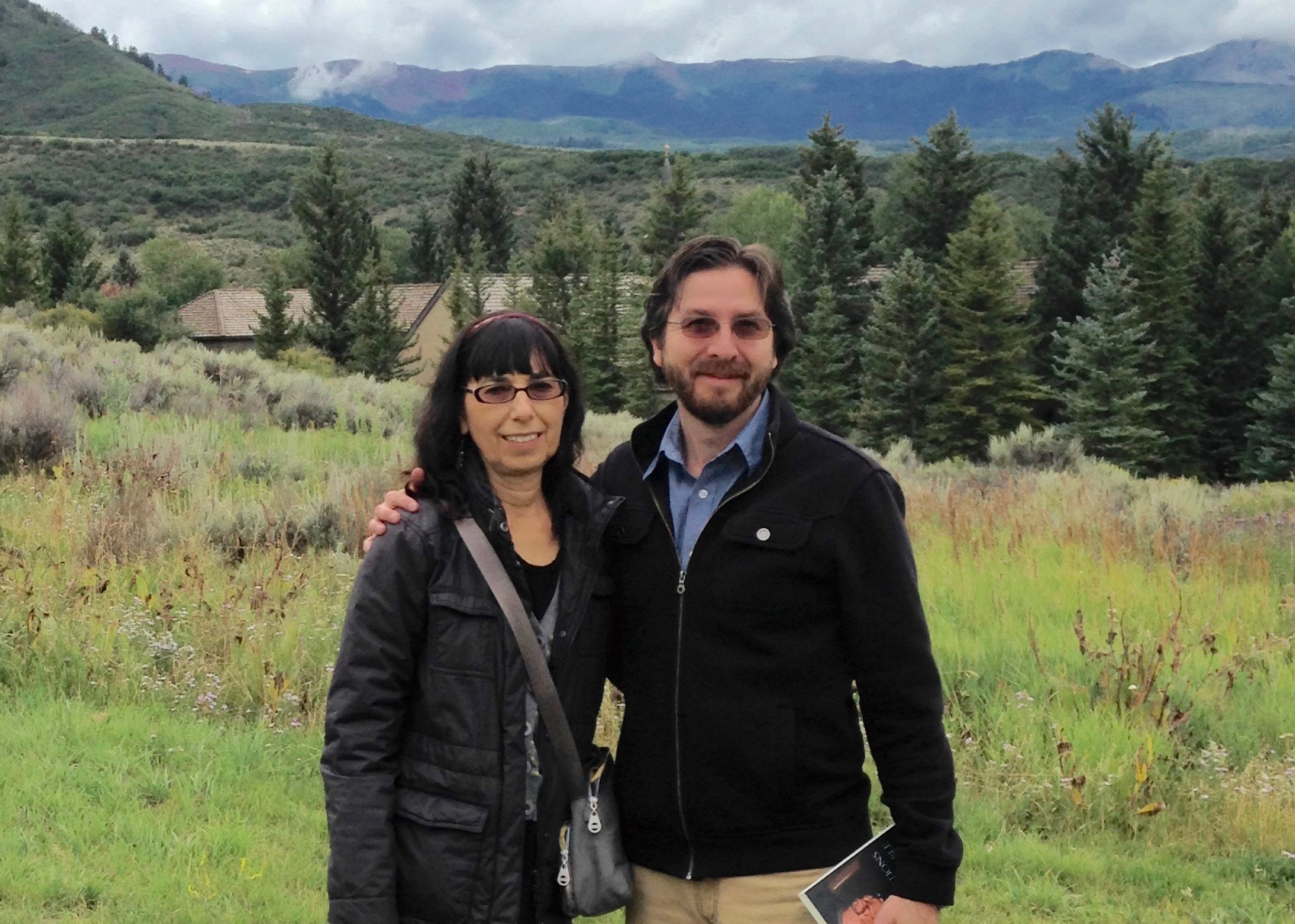 Beverly Lanzetta and Netanel Miles-Yépez at St. Benedict's Monastery, Snowmass, CO.  (J. Phares, 2014)
