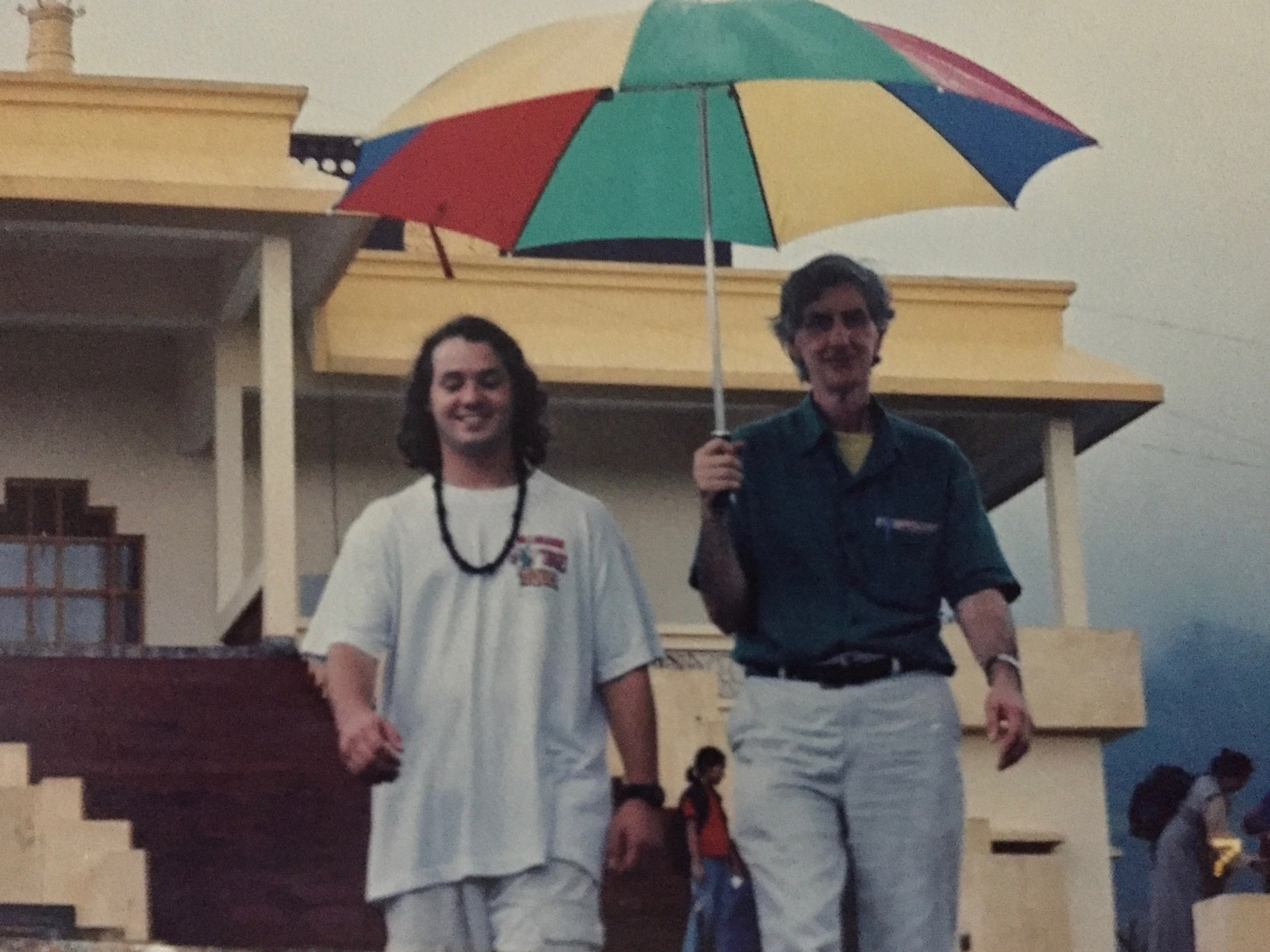 Rory McEntee and Wayne Teasdale in Dharamsala, India. (Unknown)